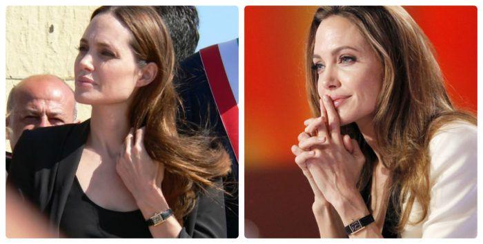 Đồng hồ nữ dây da Cartier Tank Louis Angelina Jolie đeo