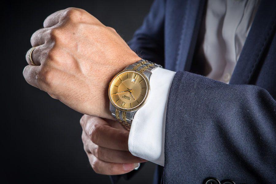đồng hồ nam vàng Nobel
