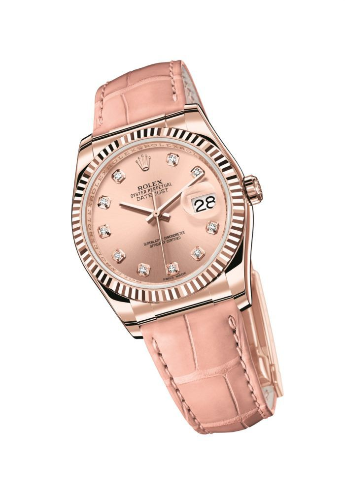 Mẫu đồng hồ nữ dây da mới của Rolex Datejust
