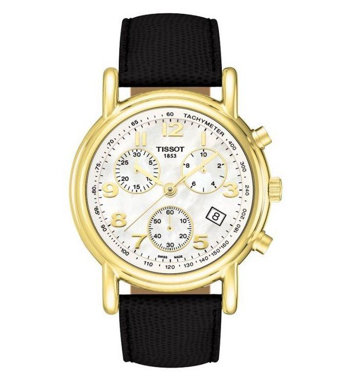 Đồng hồ nữ Tissot đẹp Carson Ladies Chronograph dây đen