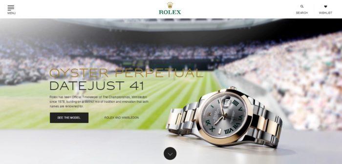 giao diện thương hiệu đồng hồ Thụy Sỹ Rolex