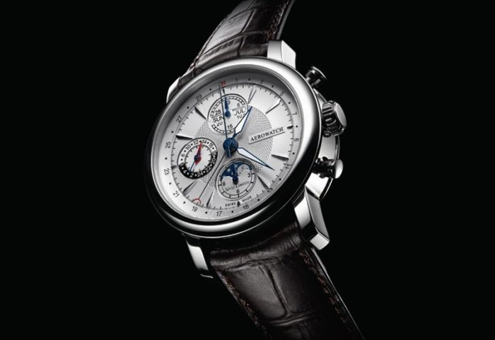 đồng hồ Aerowatch dây da