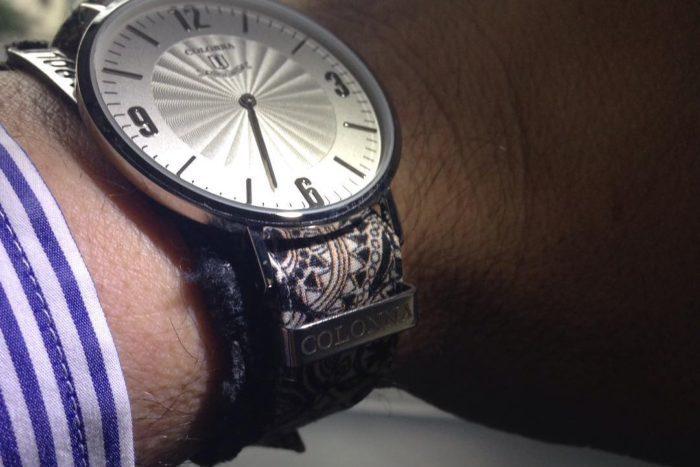 đồng hồ dây vải nam Colonna