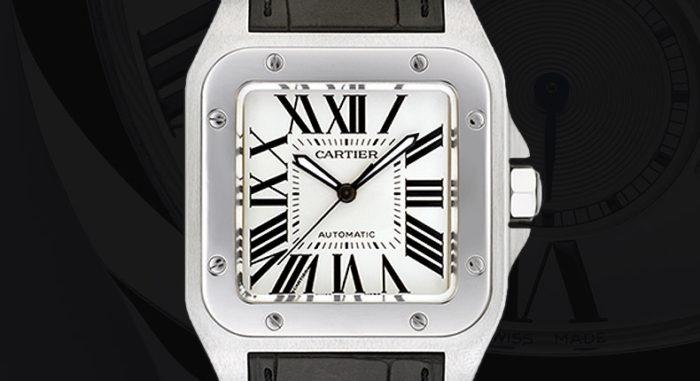 đồng hồ cơ mặt vuông Cartier