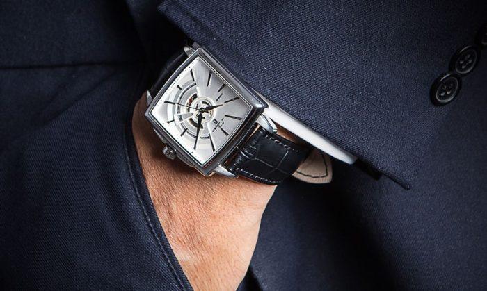 đồng hồ cơ mặt vuông L'duchen