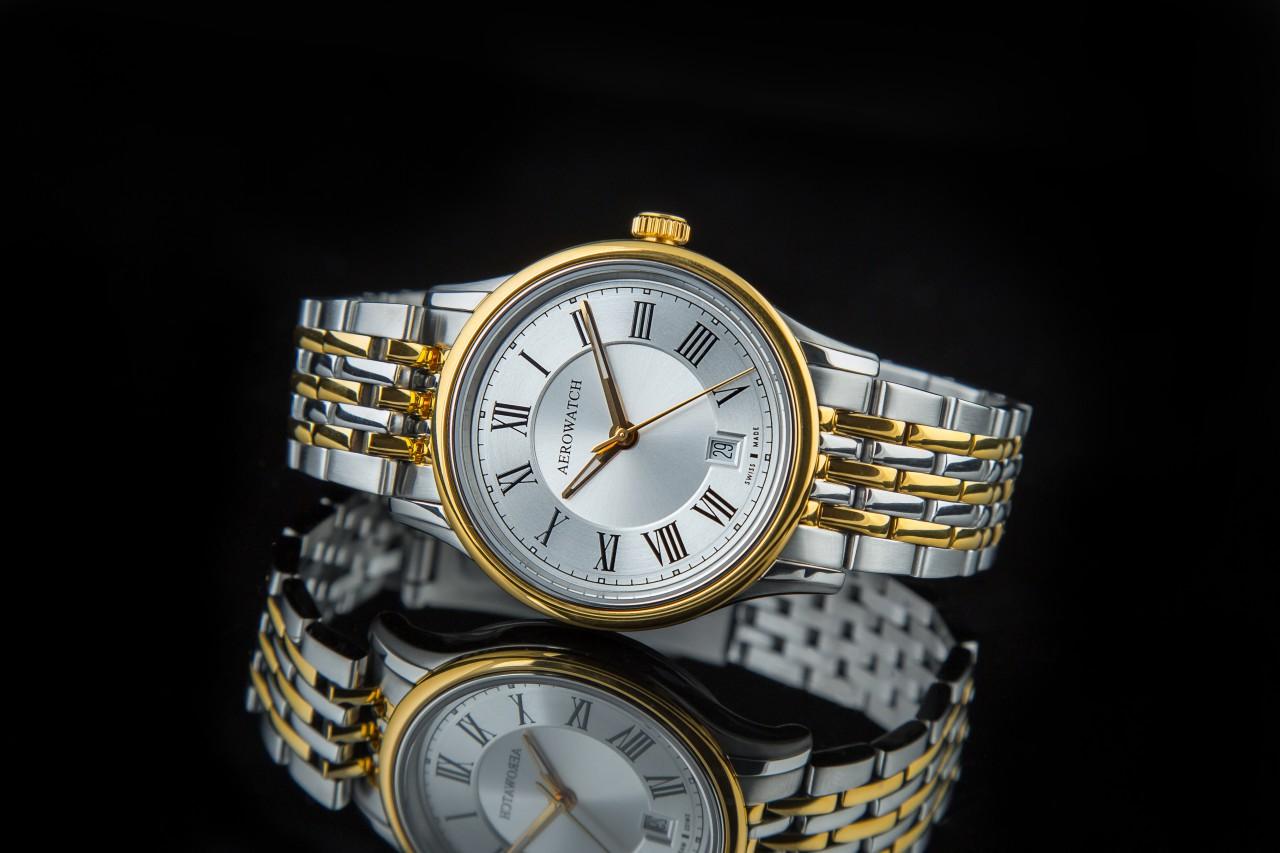 đồng hồ nam vàng Aerowatch 24962 BI01 M