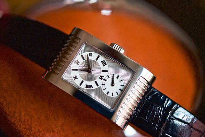 Đồng hồ Rolex nam dây da Cellini