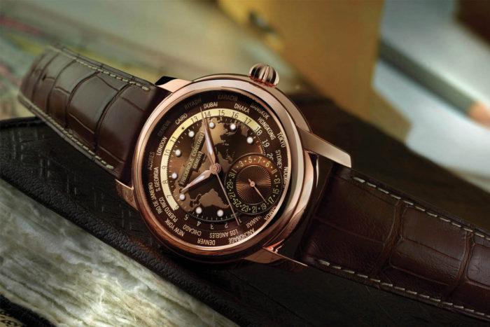 Đồng hồ dây da nam đẹp chính hãng Frederique Constant