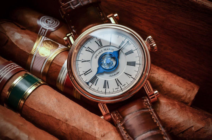 đồng hồ Speake Marin cao cấp da nâu