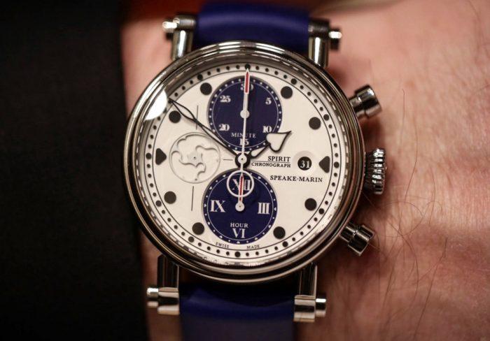 đồng hồ Speake Marin cao cấp dây da xanh