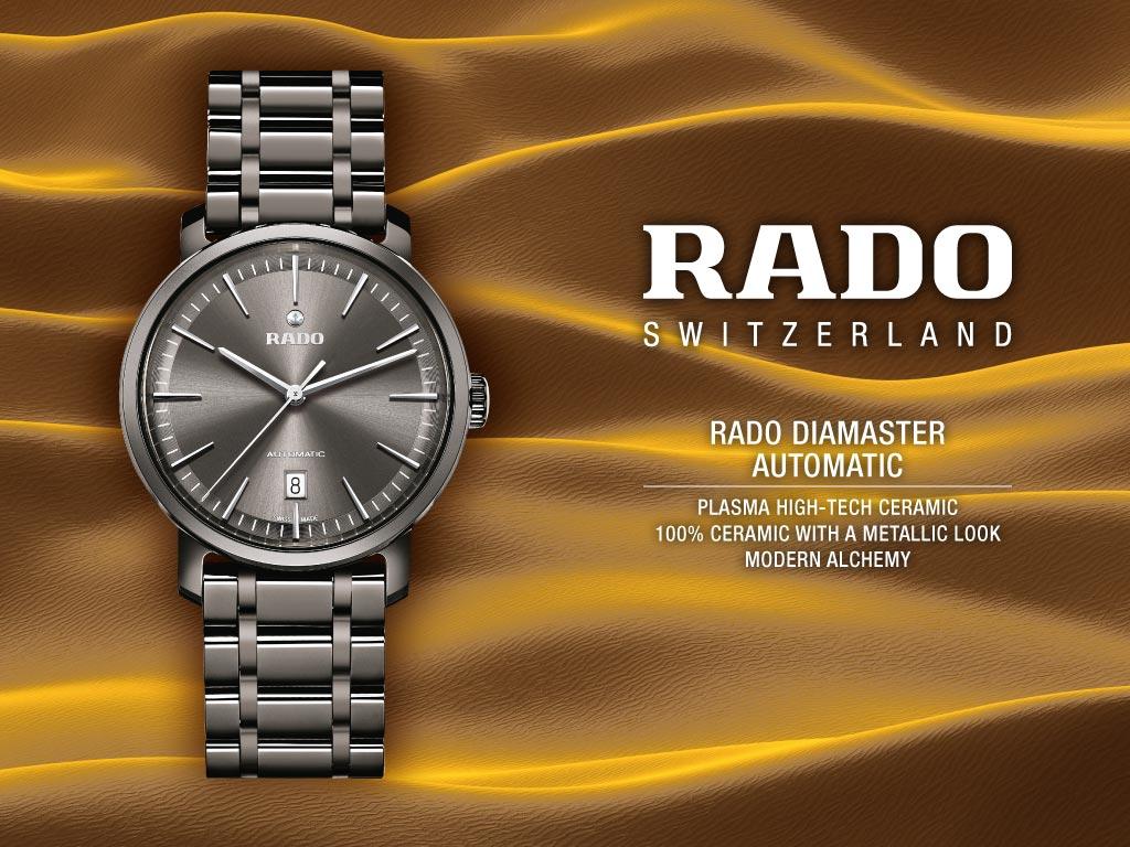 Đồng hồ Rado nữ dây đá bền bỉ theo tháng năm