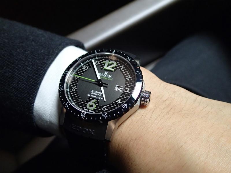 đồng hồ Edox nam dây da chính hãng