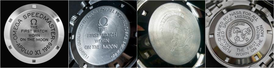 Phong cách thiết kế khác nhau ở vỏ sau đồng hồ Omega Speedmaster ST145.022-69