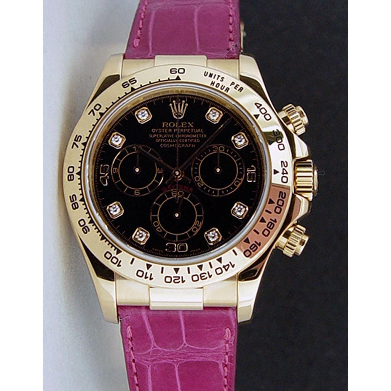 mẫu đồng hồ Rolex nữ dây da màu hồng