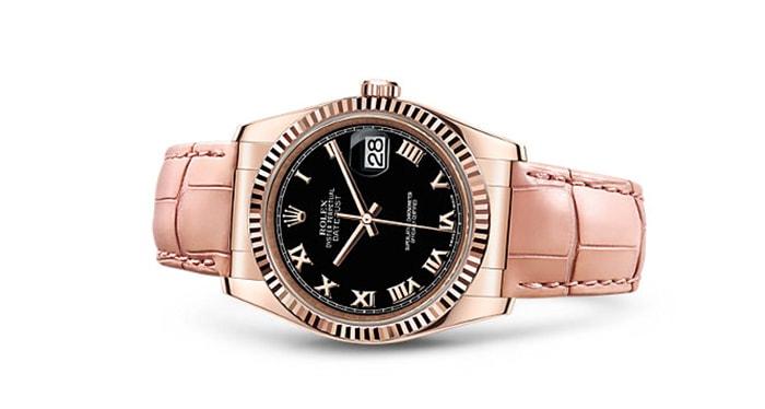 mẫu đồng hồ Rolex nữ dây da