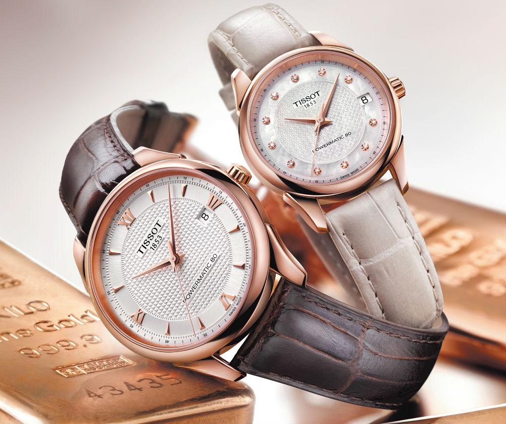 bộ sưu tập đồng hồ Tissot dây có cho nam và nữ