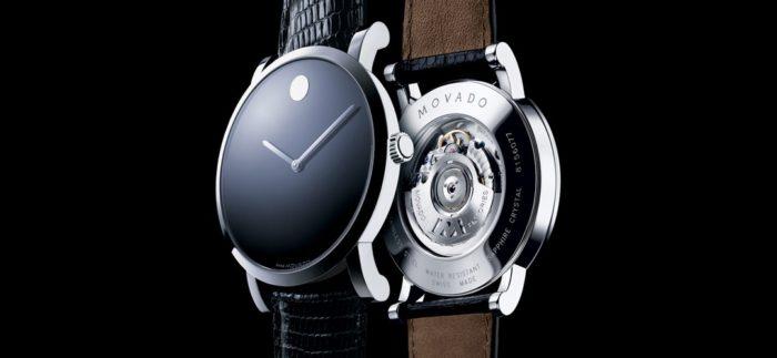 đồng hồ dây da movado chính hãng
