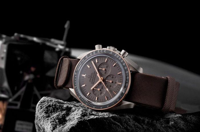 đồng hồ cao cấp Thụy Sỹ Omega dây nâu
