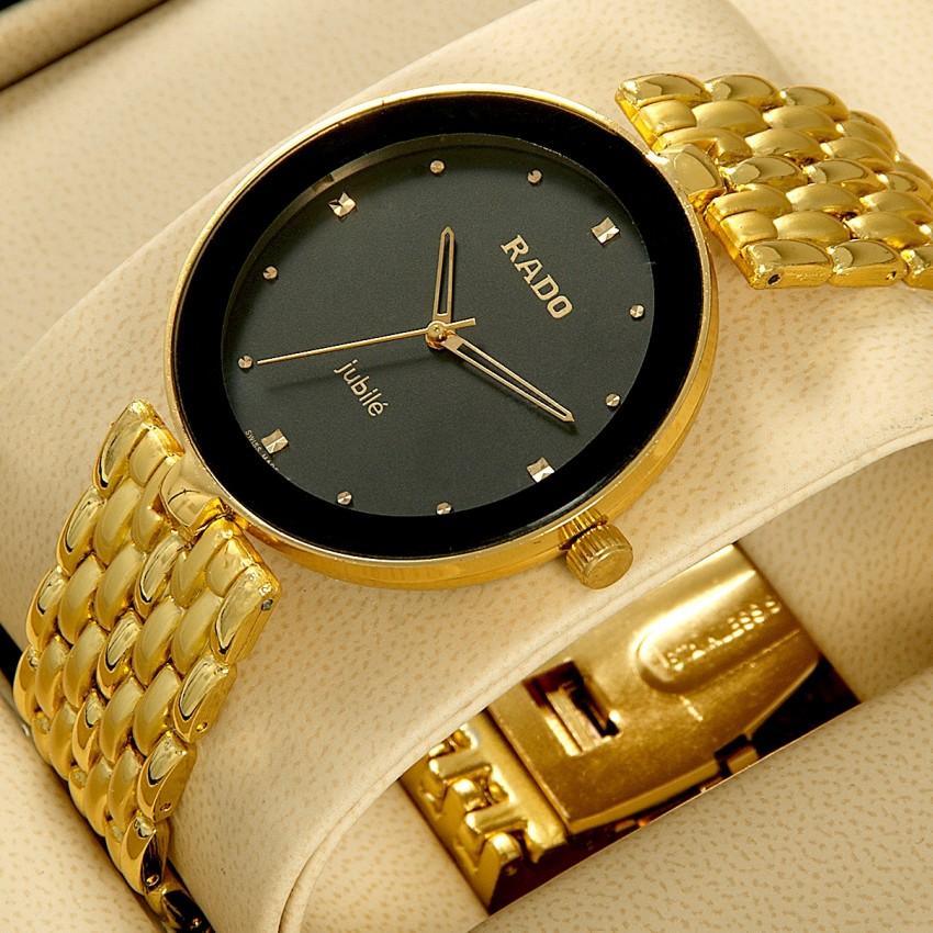 Đồng hồ Rado nữ dây đá mạ vàng