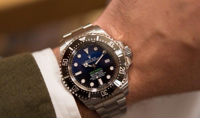 Đồng hồ Rolex mặt xanh Deepsea D-blue nam