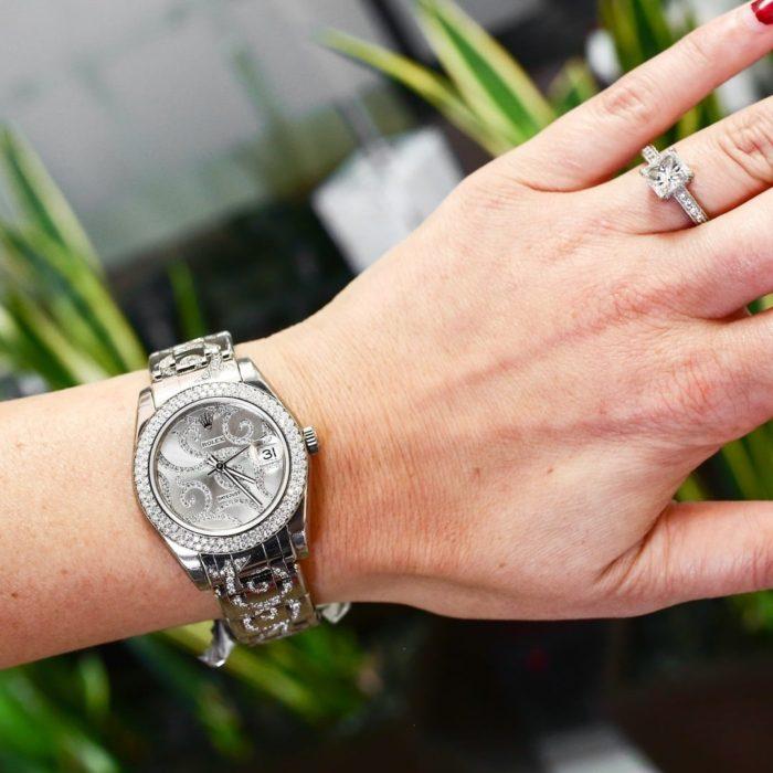 đồng hồ rolex đính kim cương