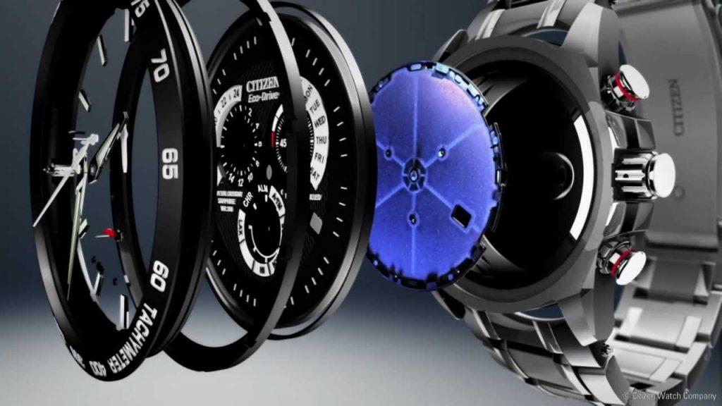 đồng hồ pin Eco drive năng lượng dự trữ đến 200 giờ
