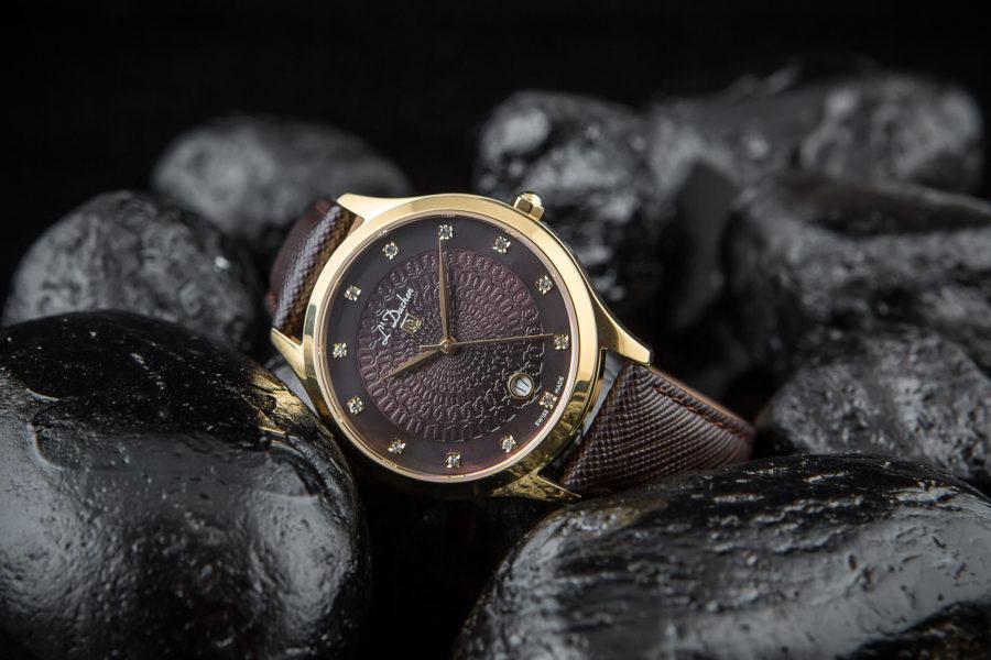 Đồng hồ L'Duchen dây da phong cách cổ điển
