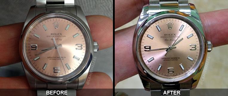 đánh bóng đồng hồ cũ
