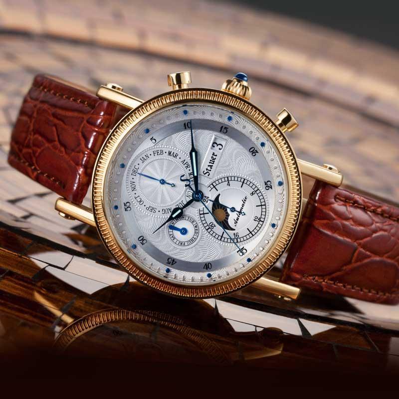 đồng hồ cơ dây da chính hãng