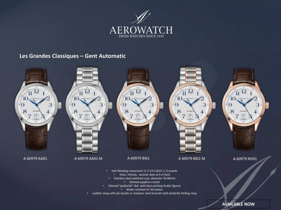 các mẫu đồng hồ tự động aerowatch