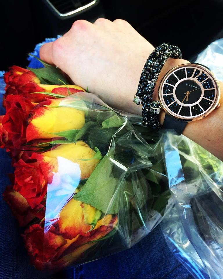 Đồng hồ nữ thiết kế mặt tròn hiệu Elixa