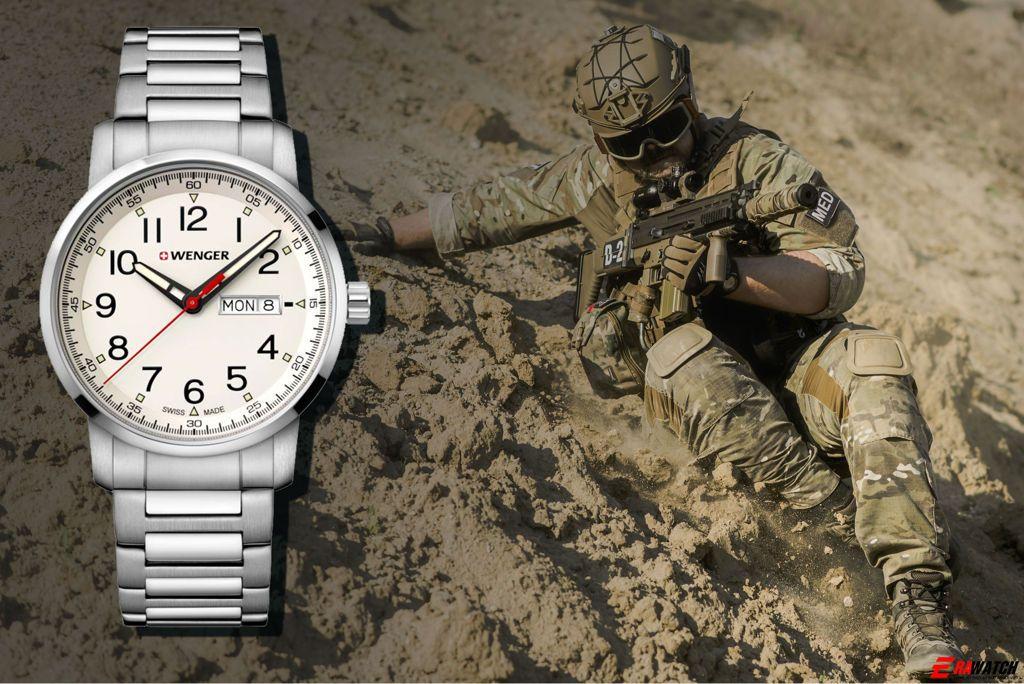 đồng hồ nam dây kim loại Wenger