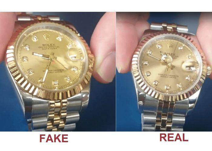 so sánh đồng hồ fake và thật