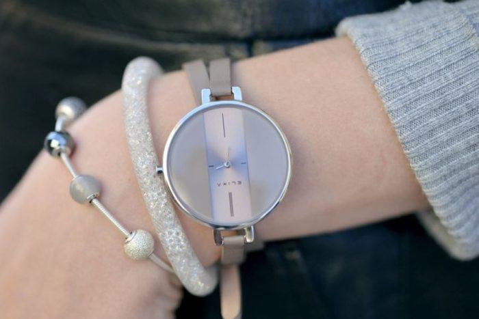 Đồng hồ dây da nữ ELixa