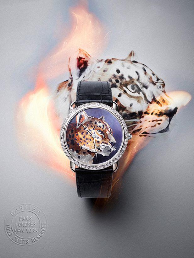 đồng hồ Drive de Cartier Panther Décor
