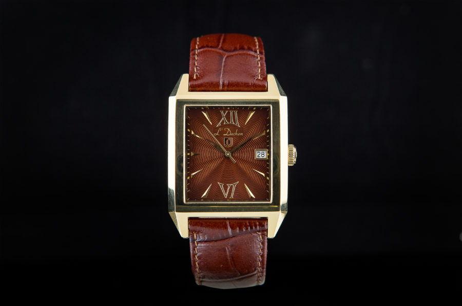 đồng hồ nam vàng hồng mặt vuông