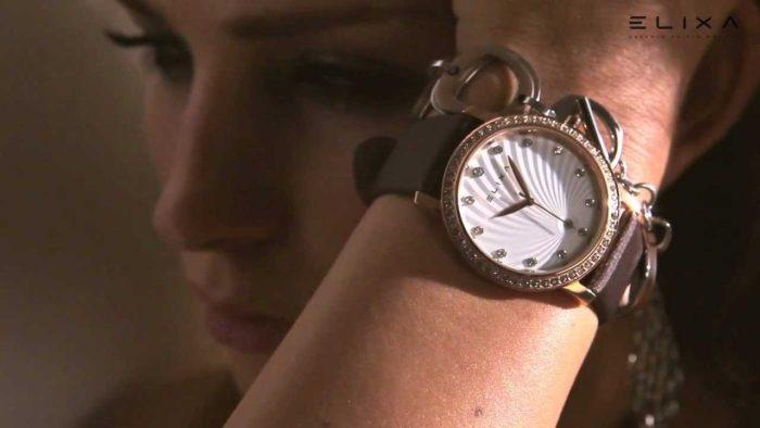 Đồng hồ da nữ hàng hiệu Elixa