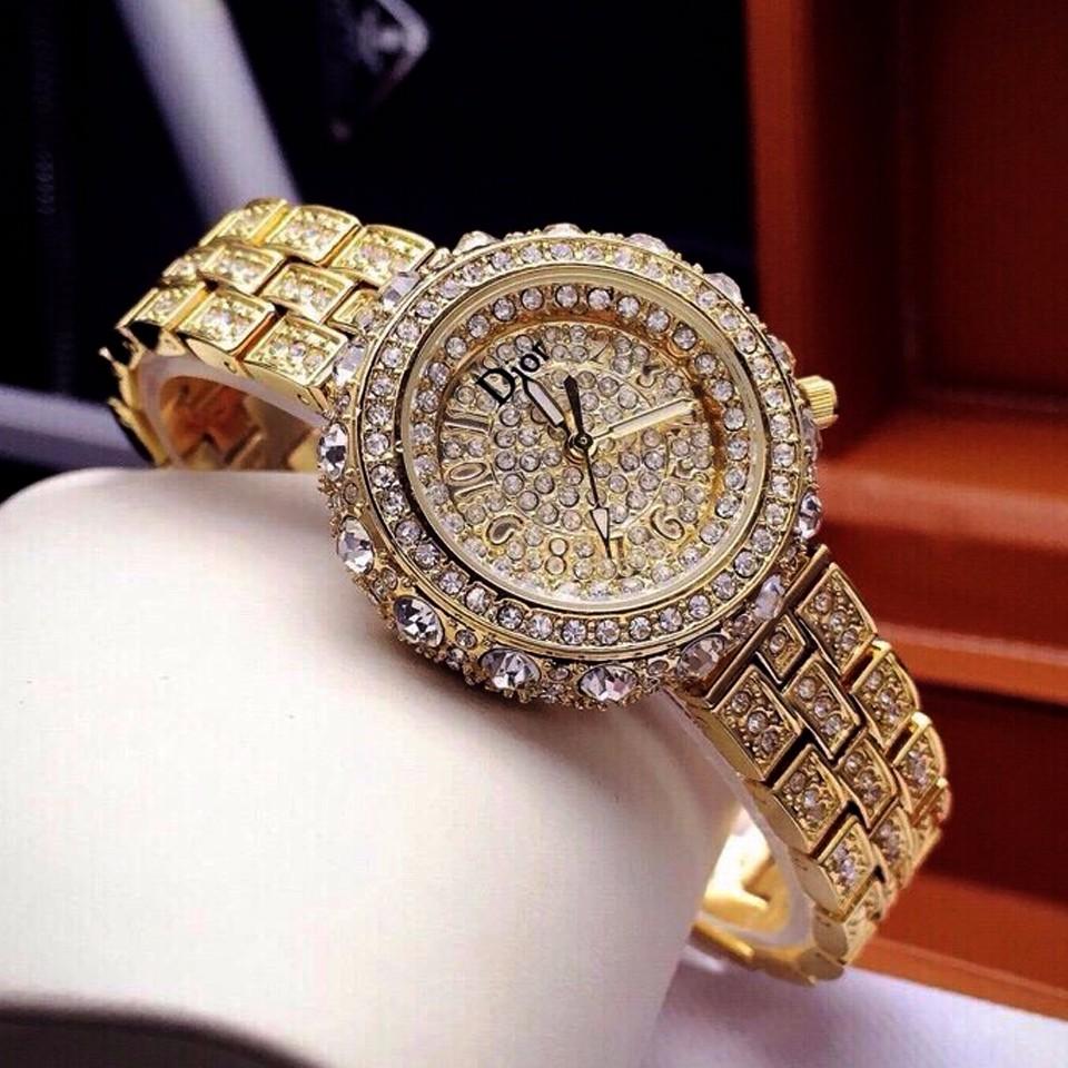 thay dây đồng hồ mạ vàng đẹp