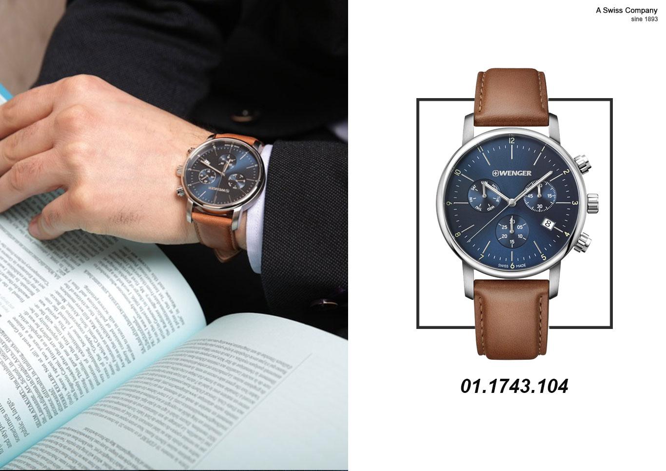 Mua đồng hồ nam 6 kim dây da giá rẻ nhưng vẫn chính hãng Thụy Sỹ