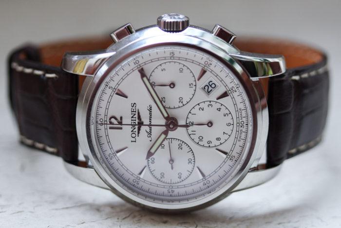 đồng hồ 6 kim dây da