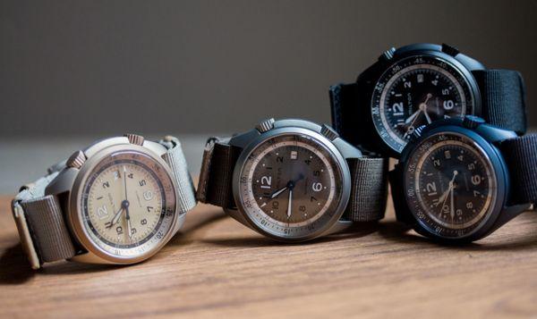 đồng hồ nhiều màu sắc hamlmiton
