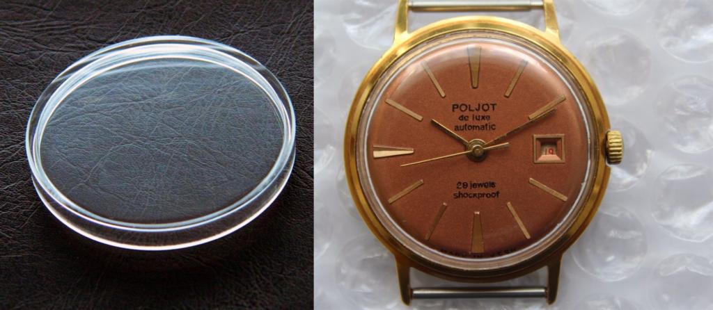 Đồng hồ sử dụng kính nhựa mica